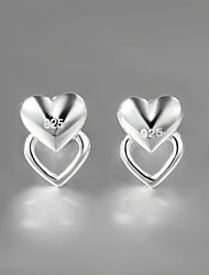 2015 New Products Italy Style Silver Plated Classical Design Stud Earrings for Lady