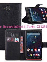 For Motorola Case Wallet / Card Holder / with Stand / Flip Case Full Body Case Solid Color Hard PU Leather Motorola
