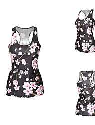 PinkQueen® Women's Polyester/Spandex Plum Blossom Printed Tank Top