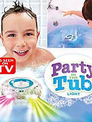 juguetes que emiten luz de barro baño / espectáculo de luz la hora del baño de los niños