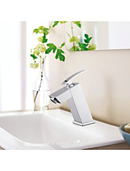 Square Sahpe Brass Single Handle Basin Faucet Mixer Tap