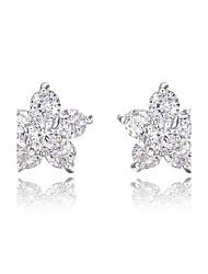 z & x® simples strass pentagramme boucles d'oreille mariage / fête / jour