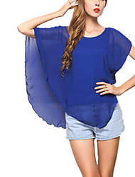 Women's Loose Chiffon Blouse Summer Tank Tops Plus Size Shirt Batwing