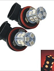 2pcs carking ™ h8 / h11 ampoule brouillard de lumière arrière de voiture 125ml (12V DC) 13x5050smd 1.5w