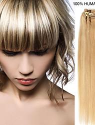 20inch 7pcs / set 70g clip-in hair remy human hair extensions 27 kleuren voor vrouwen schoonheid