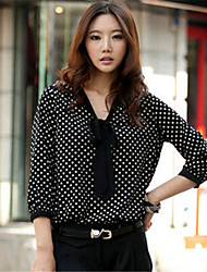 Women's Casual Inelastic ¾ Sleeve Regular Blouse (Chiffon)