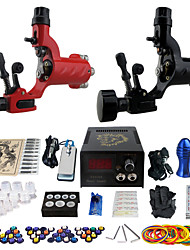 Complete Tattoo Kit 2 alloy machine liner & shader 2 Tattoo Machines LCD power supply Inks Shipped Separately