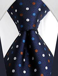 u24 shlax&lunares ala mens lazos corbata azul marino vestido de traje de seda azul oscuro largo