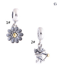 Euner® pendants Dangle charms Sun flower Bead Pendant Fits European Brand Diy Jewelry Charm Bracelets Making