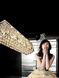 Modern LED K9 Crystal Pendant Light Ceiling Chandeliers Lighting Hanging Lamps Fixtures with 80CM*25CM CE UL FCC