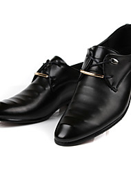 Men's Shoes Wedding/Casual/Party & Evening Leather Oxfords Black