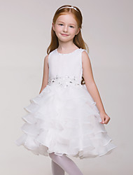 The White Dress Girl Sleeveless Birthday flower Girl Tutu (without headgear)