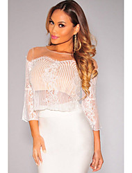 Women's Lace Nude Illusion Skirt Set