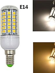 7W E14 Lâmpadas Espiga 69 SMD 5050 1020 lm Branco Quente / Branco Natural Decorativa AC 220-240 V 1 pç