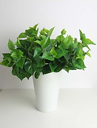 "12.6"" One Bunch Green Perilla Leaf Artificial Plant for Decoration"