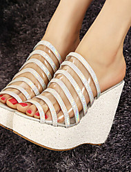 Women's Shoes Wedge Heel Heels Sandals Casual White/Silver/Gold