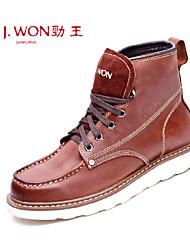 Zapatos de Hombre Exterior/Oficina y Trabajo/Casual Cuero Botas Marrón