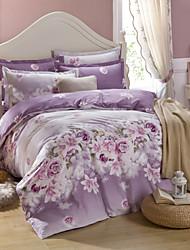 Purple Cotton King Duvet Cover Sets