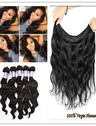 """3pcs / lot virgem onda do corpo cabelo brasileiro onda corpo brasileiro 8 """"-34"""" cabelo brasileiro extensões de cabelo humano"""