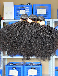3 Pcs/Lot 10-26 Eurasian Virgin Hair Afro Kinky Curly Human Hair Weave Bundles Tangle Free