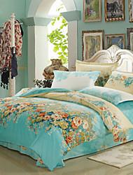 Blue Cotton King Duvet Cover Sets