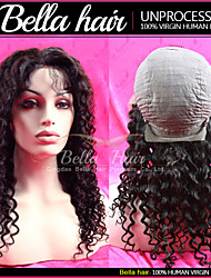 "Human Hair Curly Wigs Glueless Lace Front Wig Black Women Remy Virgin Human Hair Top Hair Wig 10""-20"""