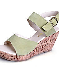 Women's Shoes  Wedge Heel Wedges/Heels/Platform/Comfort/Open Toe Sandals Casual Black/Green/Beige