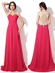 A-line Sweetheart Floor-length Evening Dress