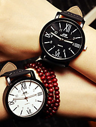 Couple's Wrist Watch Watches Men Roman Numerals Woman Watch Simple Students Watch Cool Watches Unique Watches