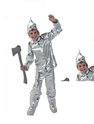 The Wizard of Oz Tin Man Cosplay Halloween Costumes For Kids (Top+Pant+Sock+Hat)