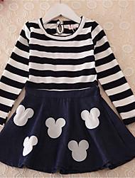 Vestido ( Algodón ) - Microelástico - Medio - Manga Larga - para CHICA