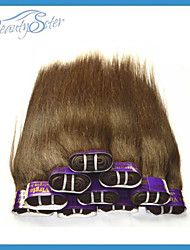Wholesale Cheap 2Kg 40Pieces Lot Cheap Peruvian Hair Straight Grade5A 100% Human Hair Weaves Bundles Color Brown