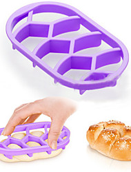 Ningbo Easybaking Bakeware Homemade Bread Rolls Brioche Mold Pan Braid Line Delicia Mould Kitchen Pastry Baking Tools