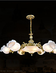Traditional/Classic / Vintage / Retro Bronze Metal Chandeliers Living Room / Bedroom / Dining Room / Study Room/Office / Hallway