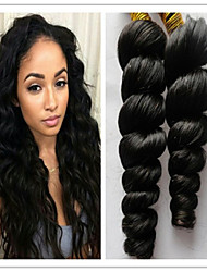 "3Pcs/Lot 8""-34""Human Hair Brazilian Virgin Hair Loose Wave Brazilian Loose Wave Virgin Brazilian Hair"