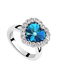 European Style Fashion Elegant Heart of Ocean Crystal Ring