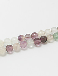 Beadia 39Cm/Str (Approx 65Pcs) 6mm Round Natural Fluorite Stone Beads DIY Accessories