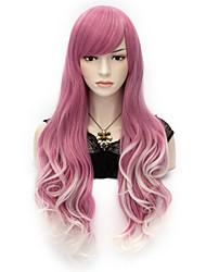 forma longo mix multi cor cor rocha primavera bouquet cosplay ondulado peruca partido
