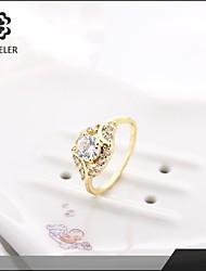 Sjeweler Ladies Girls Platinum Plated Zircon Wedding Ring