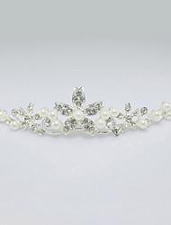 Mujer Diamantes Sintéticos Aleación Perla Artificial Celada-Boda Tiaras 1 Pieza