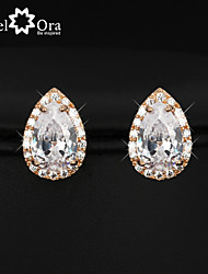 Hot Cubic Zirconia Earrings Fashion Jewelry Gold Plated Lady Stud Earrings For Women