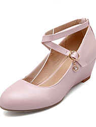 Women's Shoes  Wedge Heel Heels/Round Toe Pumps/Heels Casual Blue/Pink/White