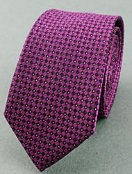 Corbatas (Morado , Poliéster)- Espiga/Modelo/Puntos/Free Form