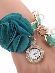 2015 Quartz Watches Women Fashion Luxury Watch Wristwatch New Fashion Pearl Flower Top Brand  Clock Female
