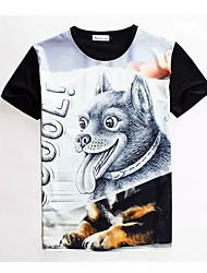 Women's High Quality Creative Special Leisure Summer Breathable 3D Style T-Shirt——Police dog
