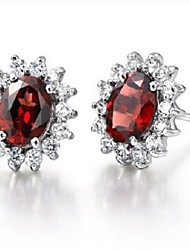 Flammable Volcano Natural Garnet Earrings 925 Silver Ms Dream Cradle Earrings SE0055G