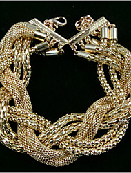 Lucky Doll Women's All Matching Vintage Gold Cord Bracelet