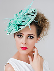 Girl Wedding Party Leopard Sinamay Feather Clip Headband Fascinators SFC12441 (more colors)