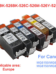 BLOOM®525BK-526BK/C/M/Y/GY Compatible Ink Cartridge For Canon MG6150/MG6250/MG8150/MG8250 Full Ink(6 color 1 set)