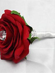 Alfinetes de Lapela ( Vermelho , Cetim ) - de Peônias
